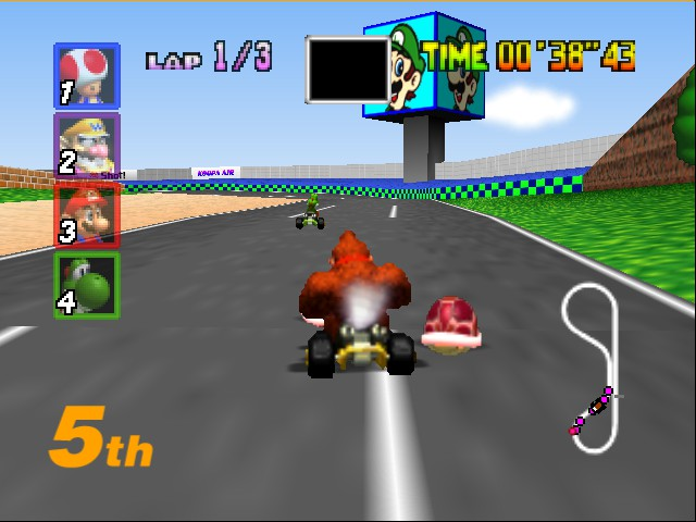Mario Kart 64 - Level Luigi Raceway - coming or you yoshi - User Screenshot