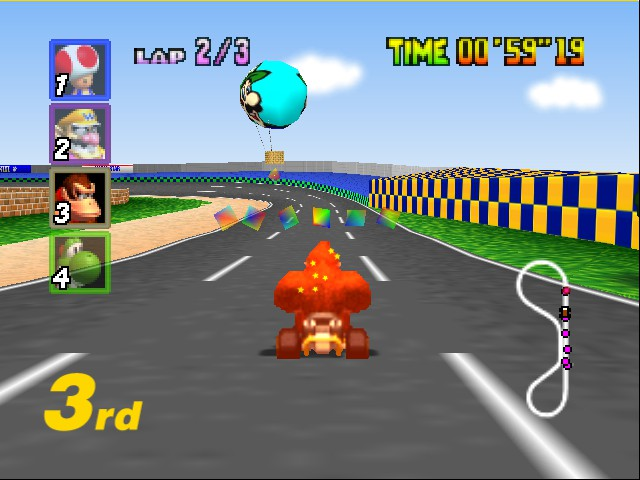 Mario Kart 64 - Level Luigi Raceway - star power - User Screenshot