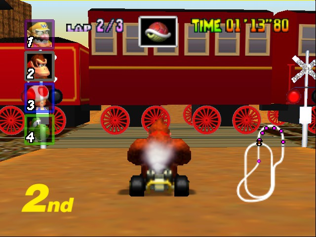 Mario Kart 64 - Level Kalimari Desert - train - User Screenshot