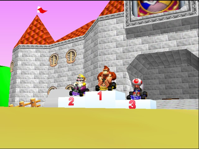 Mario Kart 64 - Cut-Scene  - 1st place. alright! - User Screenshot
