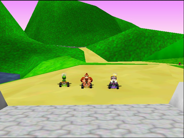 Mario Kart 64 - Ending  - who sees mario in the background - User Screenshot