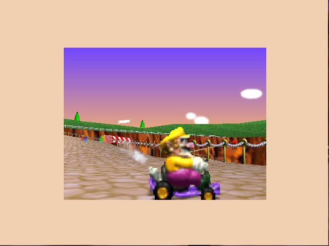 Mario Kart 64 - Level Yoshi Valley - wario, up close - User Screenshot