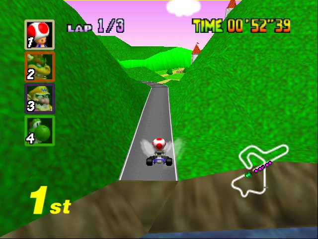 Mario Kart 64 - Level Banshee Bourdwalk - take flight - User Screenshot