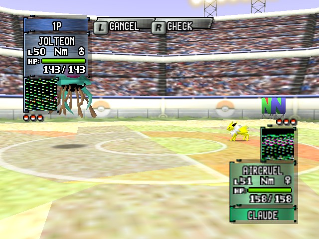 Pokemon Stadium 2 - Battle  - size comparsion - User Screenshot