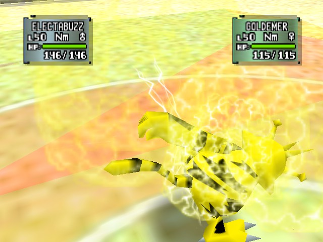 Pokemon Stadium 2 - Battle  - THUNDERPUNCH - User Screenshot