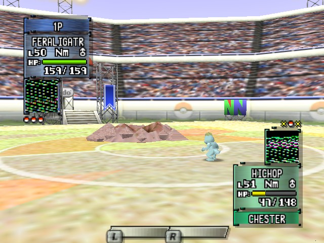 Pokemon Stadium 2 - Battle  - look how small machop is - User Screenshot