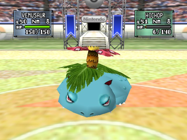 Pokemon Stadium 2 - Battle  - vensaur looks tired - User Screenshot