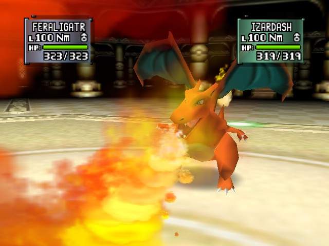 Pokemon Stadium 2 - Battle  - charizard looks like a boss - User Screenshot