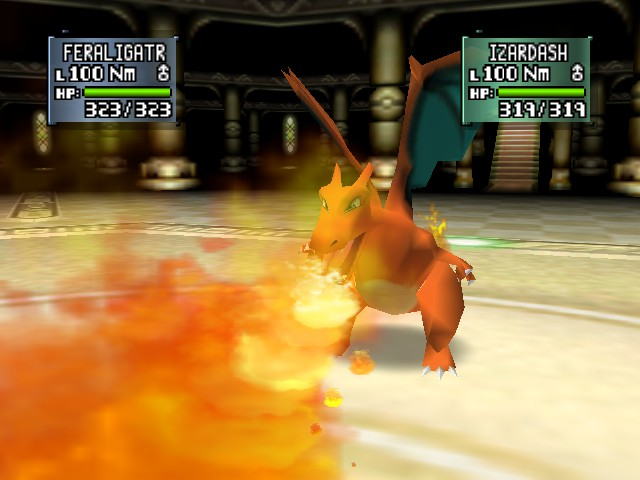 Pokemon Stadium 2 - Battle  - flamethrower - User Screenshot