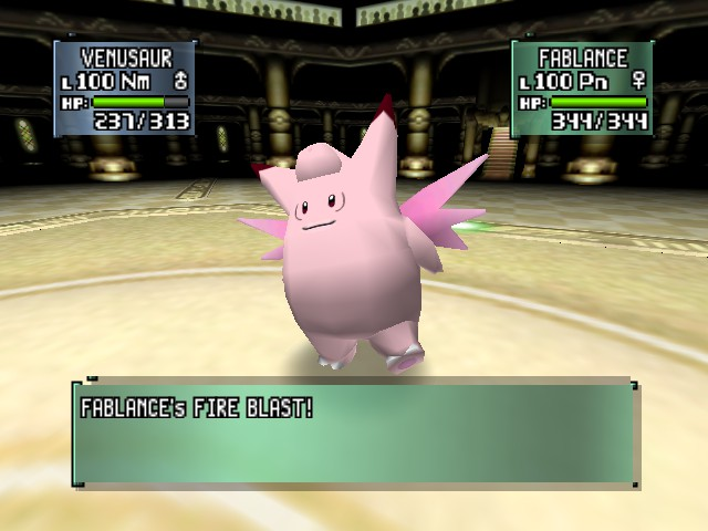 Pokemon Stadium 2 - Battle  - clefable,clefable - User Screenshot
