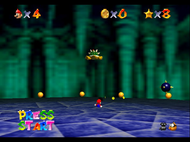 Super Mario 64 - Level Bowser In the Dark World - lets a go - User Screenshot