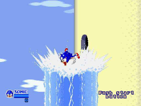 SegaSonic The Hedgehog (Japan, rev. C) - Cut-Scene  - sonic blast off - User Screenshot