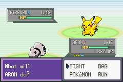 Pokemon Liquid Crystal (alpha) - Battle  - The determination on this Pikachu