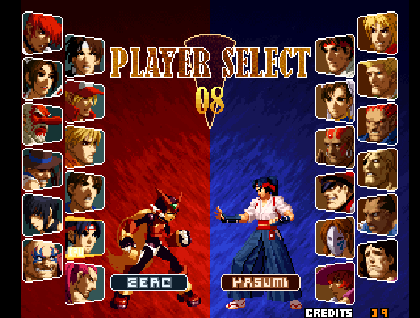 Zero -Character Select :Zero (Secret character) - User Screenshot