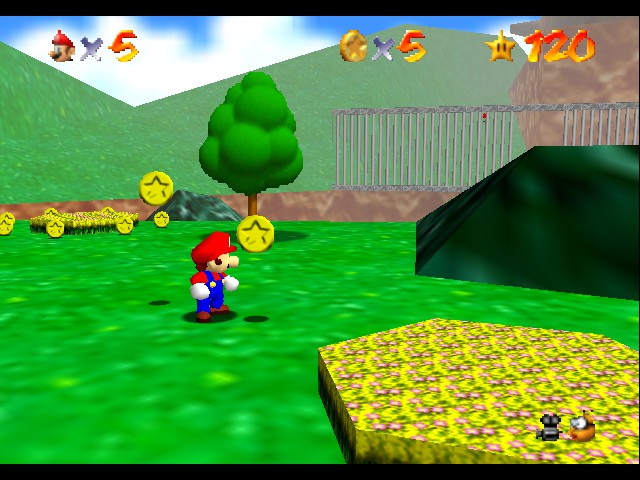 Super Mario 64 - Level Bob-omb Battlefield - Getting good at this... - User Screenshot