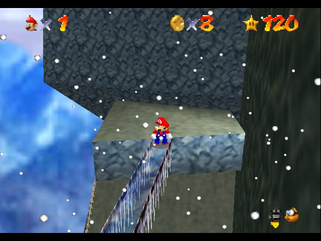 Super Mario 64 - Level Cool, Cool Mountain - So Tiny! - User Screenshot