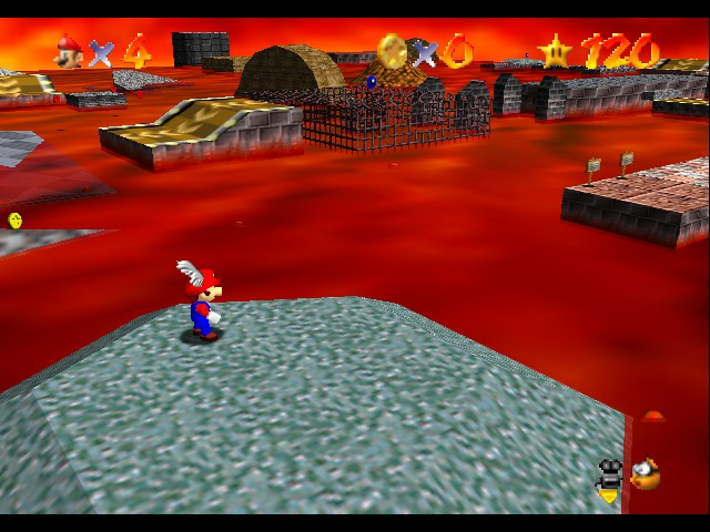 Super Mario 64 - Cut-Scene  - You know how to do a log mission without it? - User Screenshot
