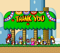 Super Mario World - Ending  - yay! - User Screenshot