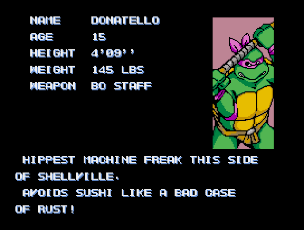 Donatello -Character Profile : - User Screenshot