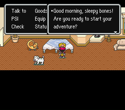Earthbound - Misc  - Guess who? <z>S</z>leepy bones! - User Screenshot