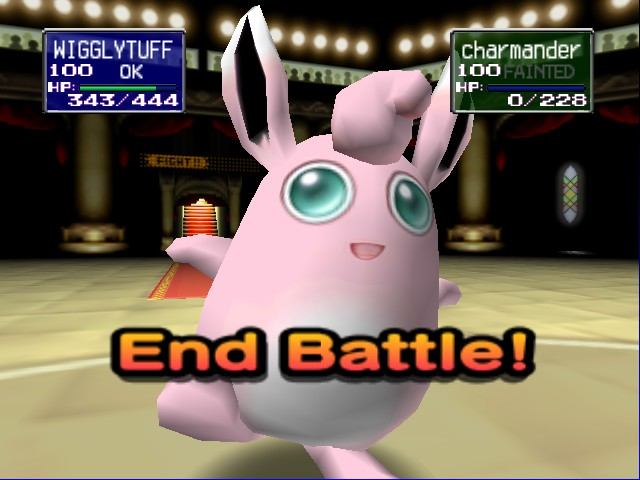 Pokemon Stadium - 3 pokemon killed by WigglyTuff  - User Screenshot