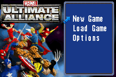 Marvel - Ultimate Alliance - main menu of game - User Screenshot
