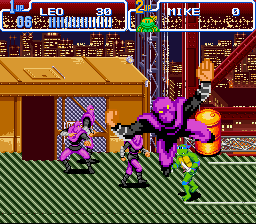 Teenage Mutant Ninja Turtles IV - Turtles in Time - Level big apple 3am - first throw - User Screenshot
