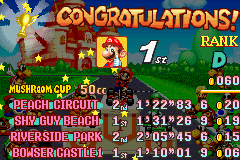 Mario Kart - Super Circuit - first win with mario - User Screenshot