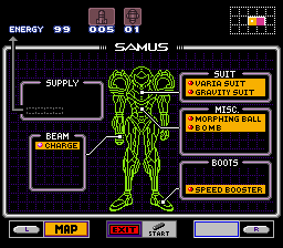 Super Metroid - Boss Rush Mode - Character Profile  - I thing I should have taken more things - User Screenshot