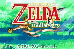 Legend of Zelda, The - The Minish Cap - title screen - User Screenshot