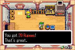 Legend of Zelda, The - The Minish Cap - you found 20$ in a rusty chest - User Screenshot