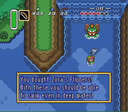 Legend of Zelda, The - A Link to the Past - Flippers! BABY - User Screenshot