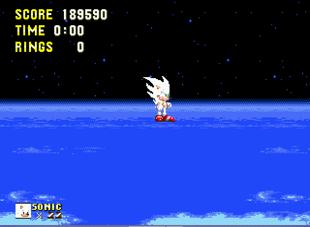 Sonic and Knuckles - SUPER SONIC!!! - User Screenshot