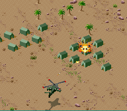 Desert Strike - Return to the Gulf - Not a good day foor a family camping trip. - User Screenshot