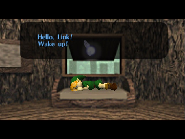 The Legend of Zelda - Ocarina of Time - Level  - Sleeping while eyes are open?! - User Screenshot