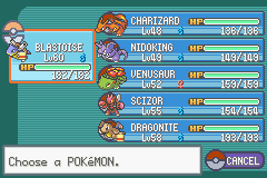 Pokemon Ash Gray (beta 3.61) - Menus Pokemon Team - Current Team - User Screenshot