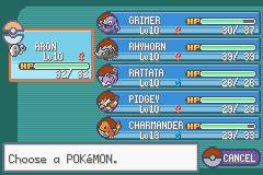 Pokemon Dark Cry - The Legend of Giratina (Alpha) - My team - User Screenshot