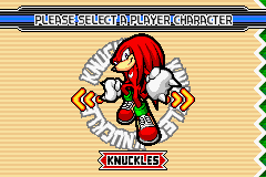 Sonic Advance 3 - Game Select  - Knuckles Select - User Screenshot