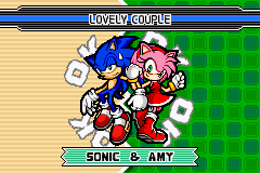 Sonic Advance 3 - Game Select  - The lovely couple - User Screenshot