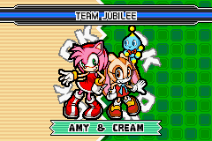 Sonic Advance 3 - Game Select  - Amy and Cream - Team Jubilee - User Screenshot