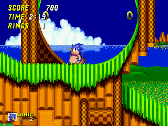 Sonic 2 XL - HEY YOU!! Help me lose some weight.  - User Screenshot