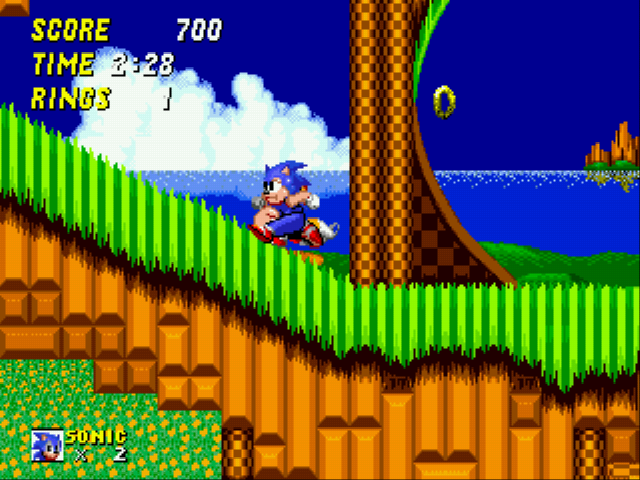 Sonic 2 XL - PANT!! Must climb hill!! AHHHH TOO HARD!!! - User Screenshot