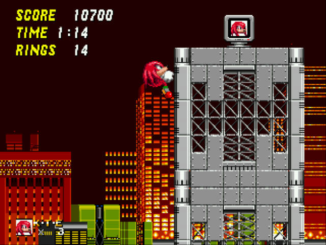 Sonic and Knuckles & Sonic 2 - Knux climbing to secret locations - User Screenshot