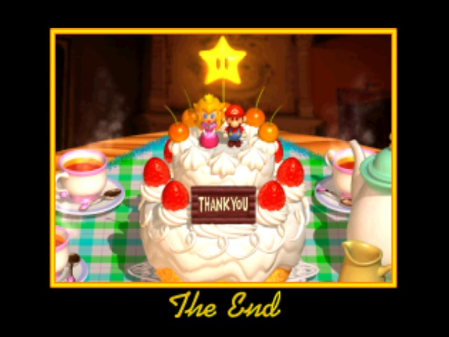 Super Mario 64 - Ending  - Game Complete!!! - User Screenshot