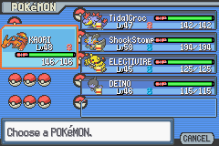 Pokemon Light Platinum - Character Profile Aces - m,y new team - User Screenshot