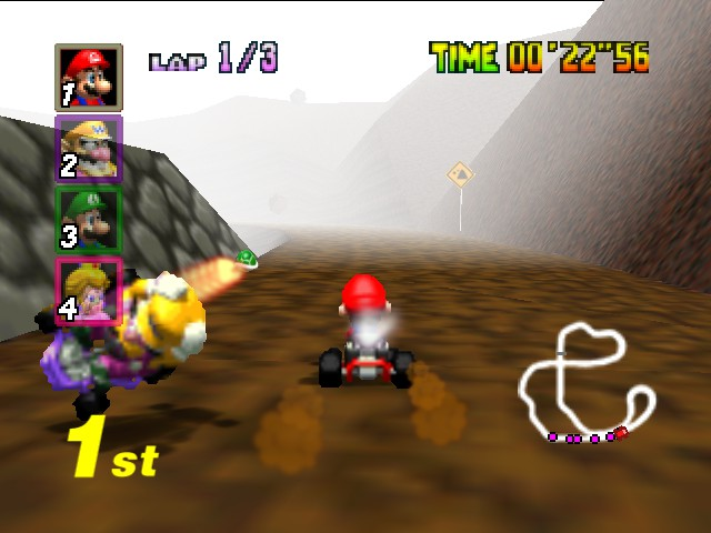 Mario Kart 64 - Luigi: Take That, Wario! - User Screenshot