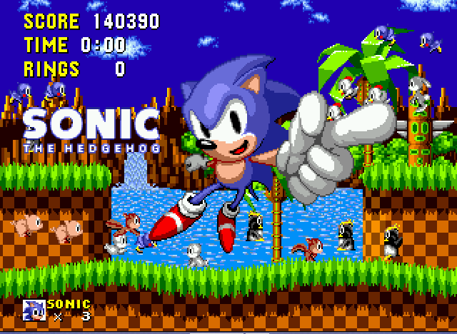Sonic the Hedgehog - Proof I beat the game with my score included! - User Screenshot