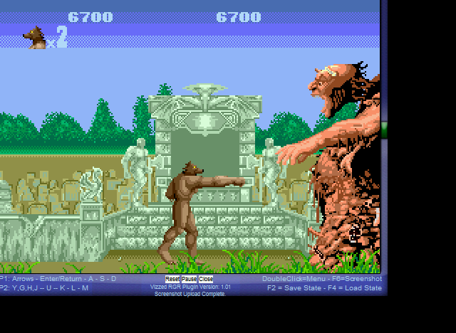 Altered Beast - First Boss - User Screenshot