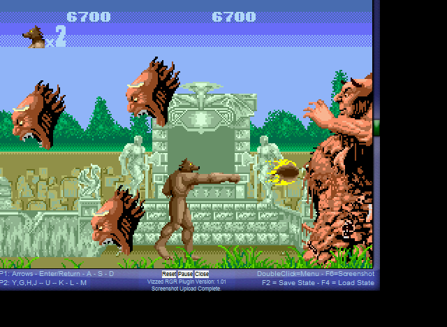 Altered Beast - Killing him! - User Screenshot