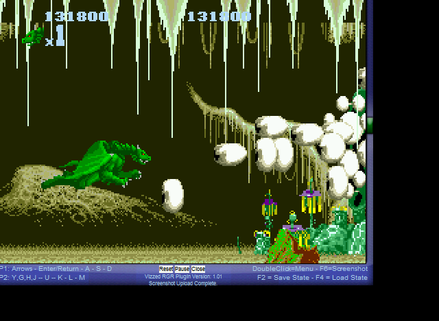 Altered Beast - Boss attacking - User Screenshot